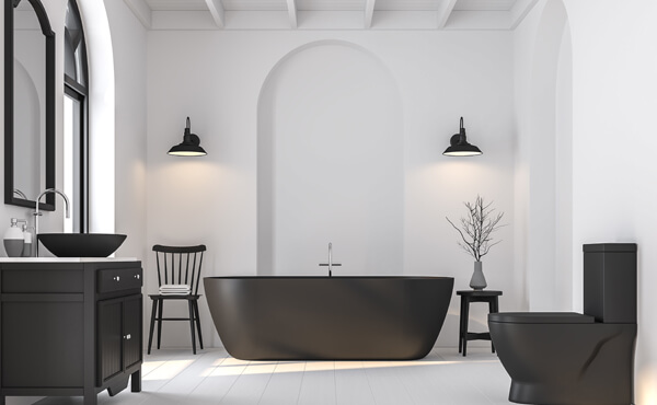 Black & White Bath Scheme
